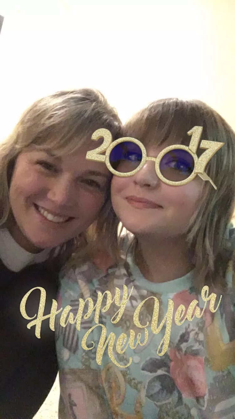 Photo of my mom and I on New Year's Eve